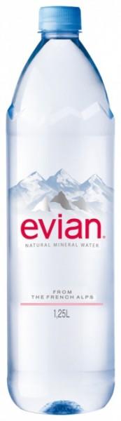 Evian Naturelle PET (6 x 1.25 Liter)