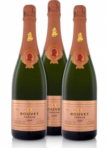 Bouvet-Ladubay Cremant Tresor Rosé (3 x 0.75 l)