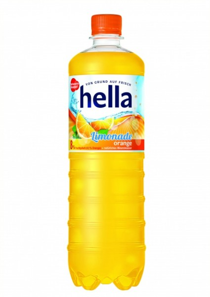 Hella Limonade Orange PET (12 x 1 Liter)