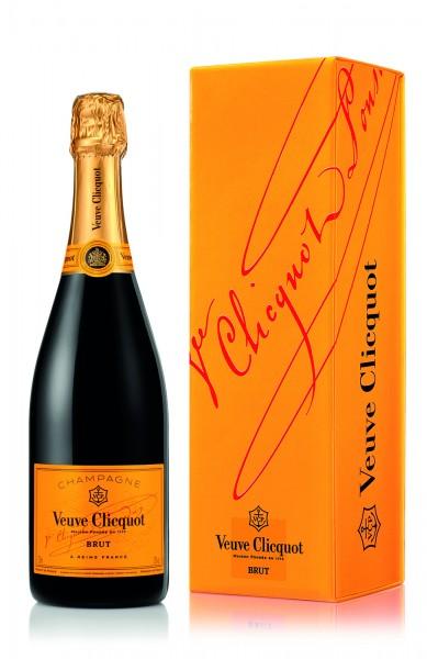 Veuve Clicquot Brut Yellow Label mit Geschenkverpackung