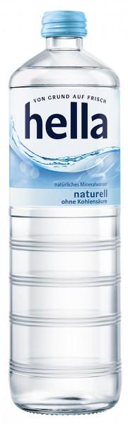 Hella Mineralwasser Naturell Glas (12 x 0,7 Liter)