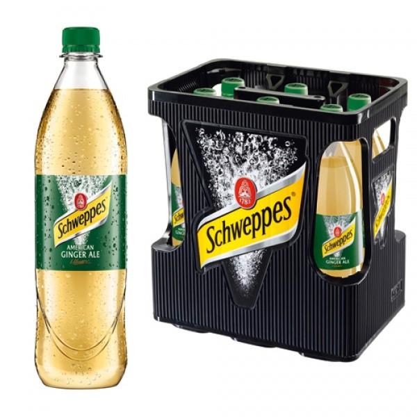 Schweppes Ginger Ale PET (6 x 1 Liter)