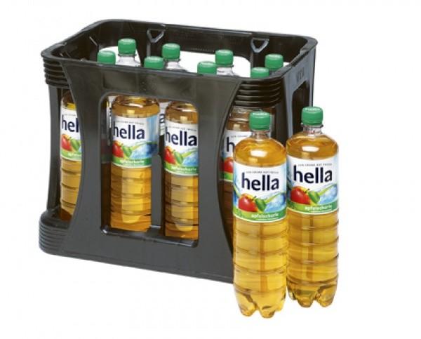 Hella Apfelschorle PET (12 x 1 Liter)