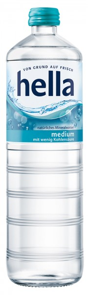 Hella Mineralwasser Medium Glas (12 x 0,7 Liter)
