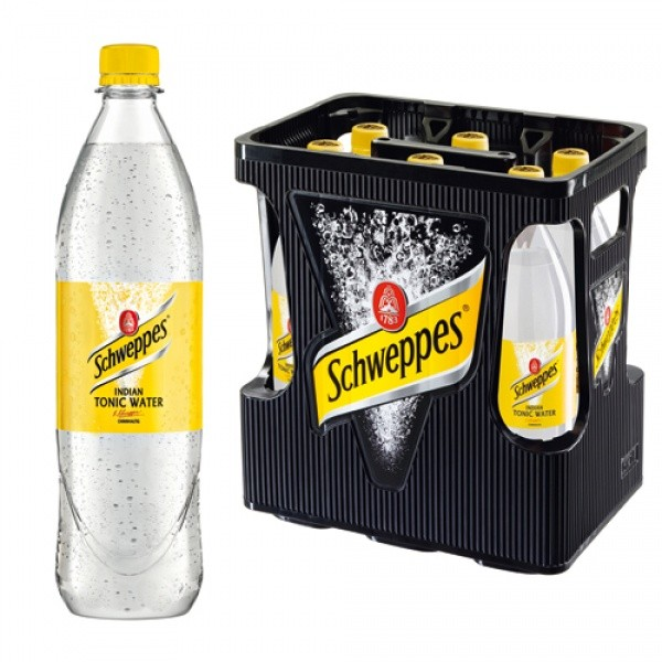Schweppes Tonic Water PET (6 x 1 Liter)