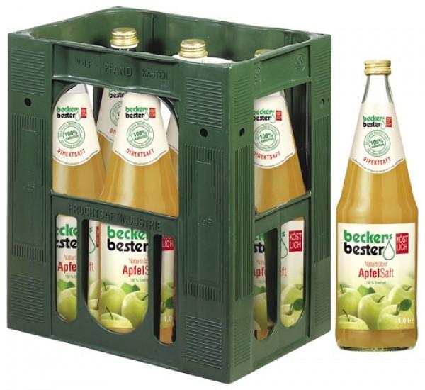 Beckers Bester Apfelsaft naturtrüb (6 x 1 Liter)