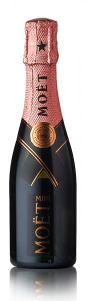 Moët & Chandon Mini Brut Rosé Impérial Champagner Quarter